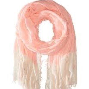 Betsey Johnson Crinkle Scarf NWT Coral
